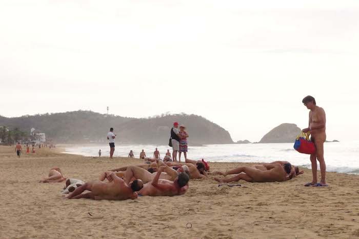 Sexto Encuentro Latinoamericano de Nudismo en Zipolite, Oaxaca. Foto: Cuartoscuro