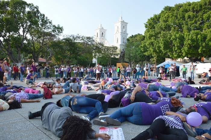 En Guerrero también se registraron protestas en contra de la violencia que las mujeres sufren a diario. Foto: Cuartoscuro.