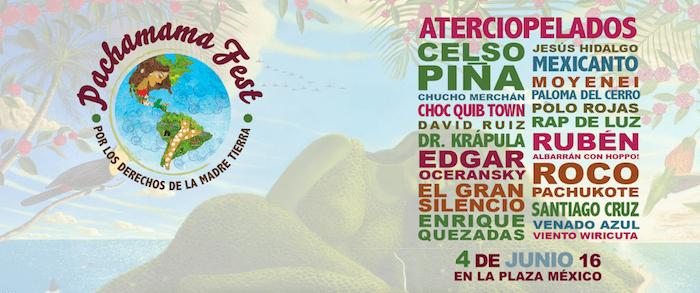 El 4 de junio, más de 20 grupos musicales se darán cita en la Plaza de Toros México para celebrar el Pachamama Fest. Foto: Especial.