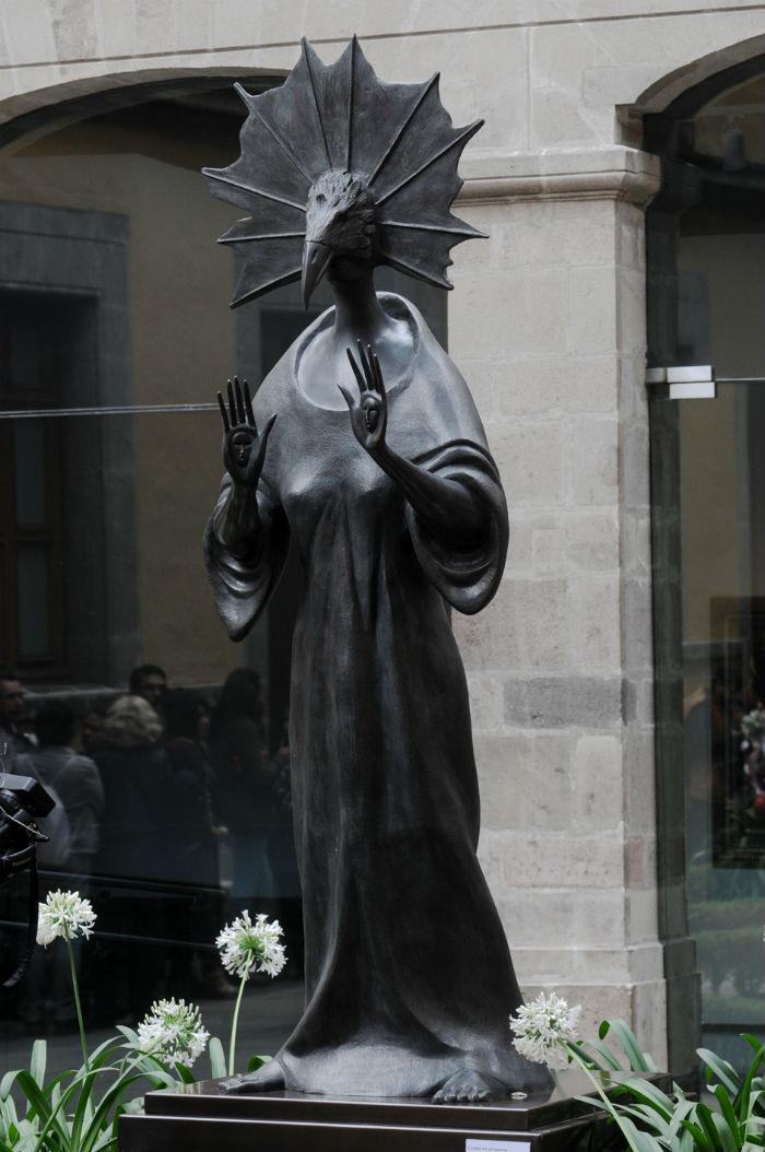 Una escultura monumental hecha en los últimos años de su vida. Foto: Secretaría de Cultura