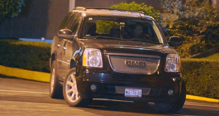 La camioneta a en la que viajaba el cantante. Foto: Cuartoscuro