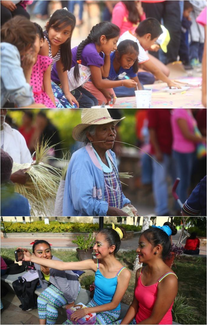 """Los rostros de Chixtlán en la """"BarricadaCultural"""". Foto: Crisanto Rodríguez, sinembargo"""