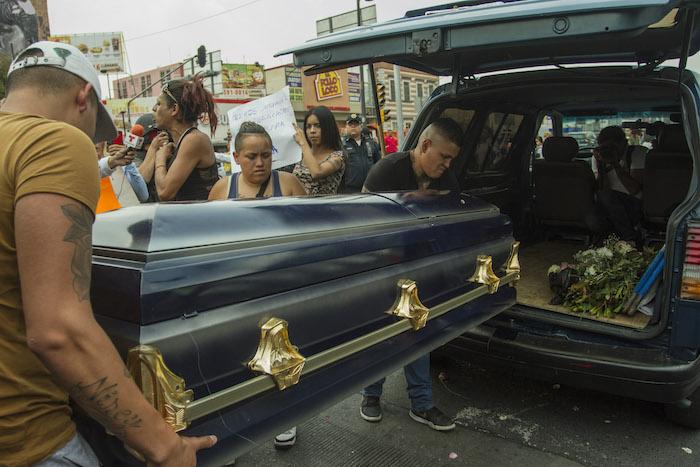 El adiós a Paola. Foto: Cuartoscuro