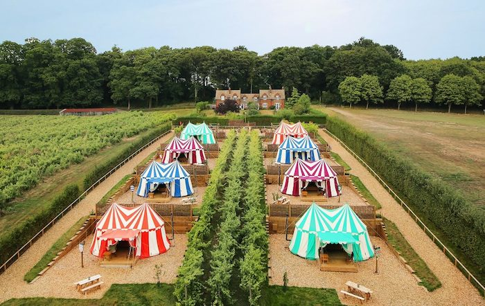 Foto: Knight´s Glamping at Leeds Castle