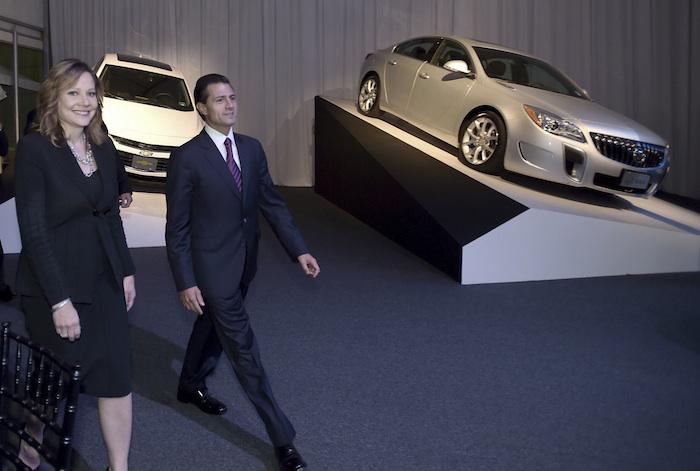 El Presidente Enrique Peña Nieto durante la celebración de los 80 años de GM en México. Foto: Cuartoscuro.