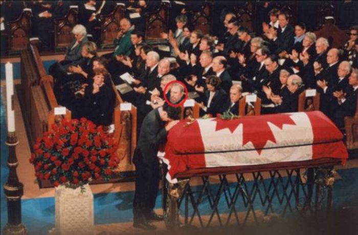 Fidel Castro durante el funeral del padre de de Justin Trudeau / Foto: Especial