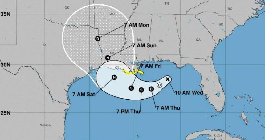 huracan barry - Población de Luisiana se prepara para la tormenta Barry; cancelan concierto de The Rolling Stones