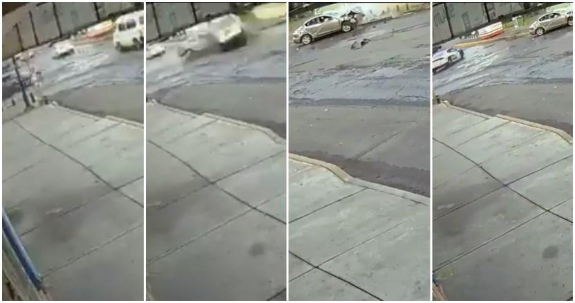 patrulla ignora choque - VIDEO: Una patrulla embiste a gran velocidad a una camioneta y provoca que vuelque, en la CdMx