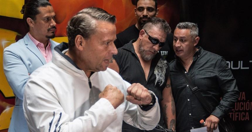 """conferencia pelea ajuste de cuentas 1 - ¿Se pospone la """"Pelea del Siglo""""?; Trejo anuncia que Adame nunca presentó un certificado que lo justifique"""
