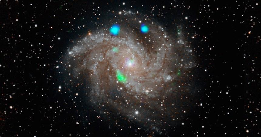 luz verde espacio - LA NASA y ESA se juntan para desviar a Dydimos, un asteroide con dirección a la Tierra
