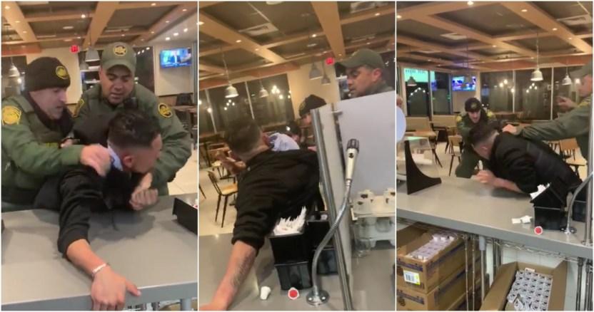 patrulla migrante - Empleados de un restaurante de tacos en EU se niega a atender a policías que vigilaban protestas