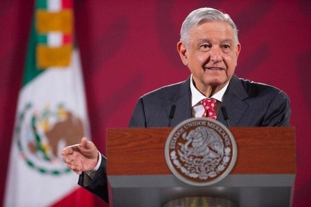 El Presidente Andrés Manuel López Obrador en su conferencia de prensa de este martes.
