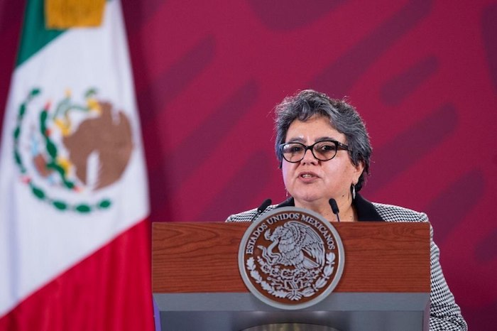 Raquel Buenrostro, titular del SAT.