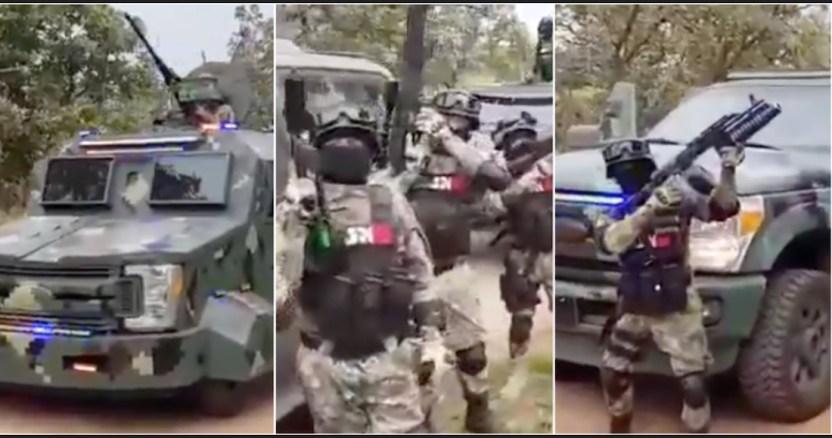 """mencho ejercito - CJNG muestra poderío en nuevo VIDEO donde renuncia a pelear con Gobierno pero sí con """"Marro"""""""