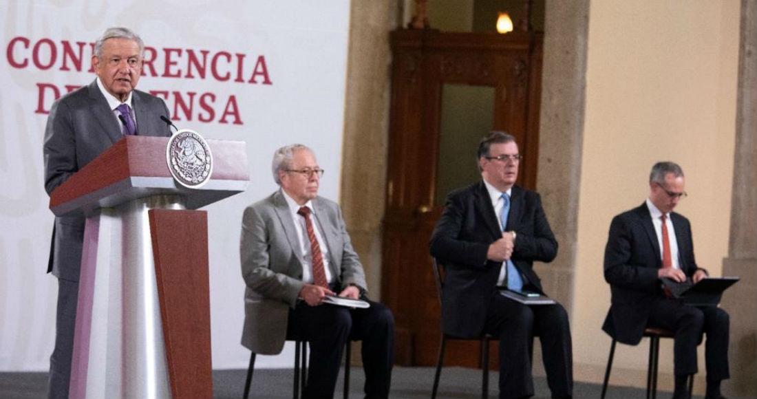 El Presidente Andrés Manuel López Obrador en su conferencia de este martes.