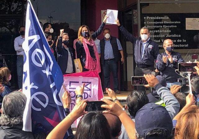 La organización México Libre, encabezada por la excandidata presidencial, Margarita Zavala, y el expresidente Felipe Calderón impugnó la decisión del Instituto Nacional Electoral (INE) de no otorgarles el registro como partido político.