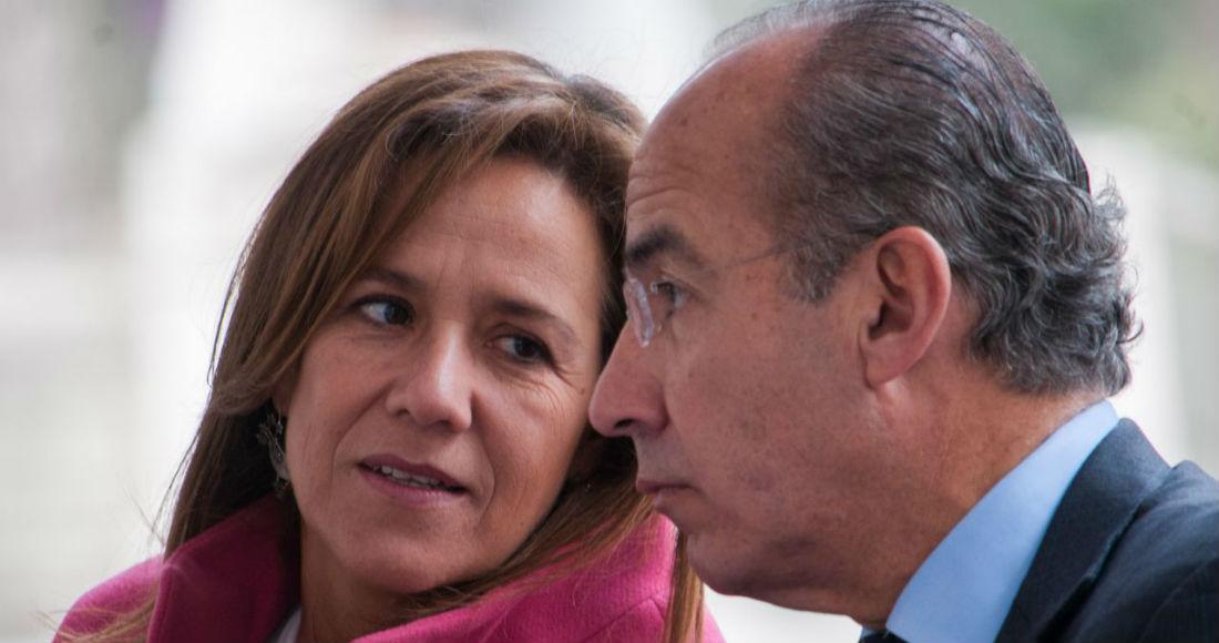 Margarita Zavala, exaspirante a la Presidencia de México, y el exmandatario Felipe Calderón Hinojosa.