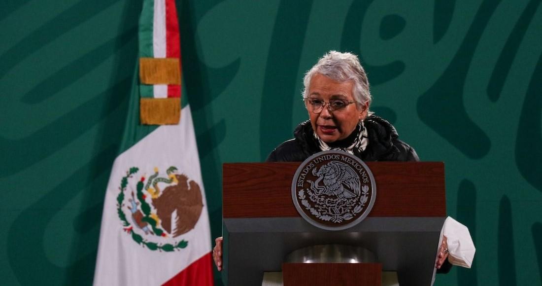 Olga Sánchez Cordero, Secretario de Gobernación, en conferencia de prensa.