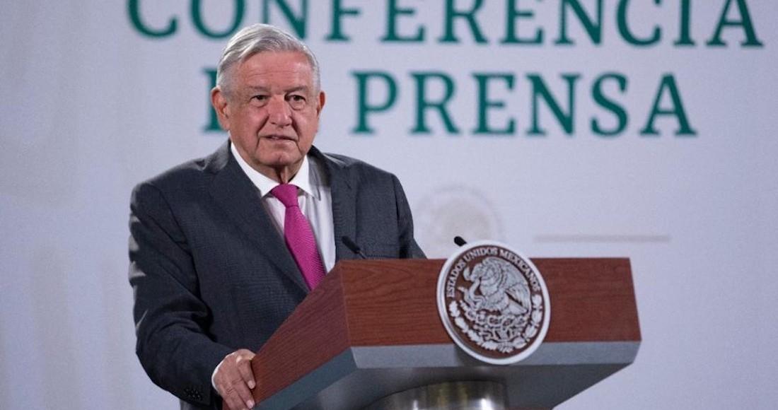 El Presidente Andrés Manuel López Obrador en su conferencia de prensa de este jueves.