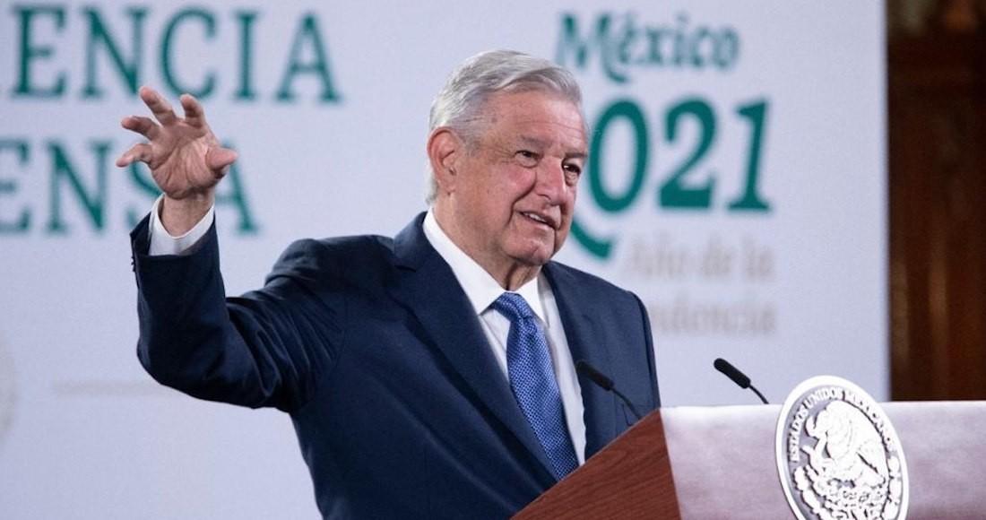 El Presidente Andrés Manuel López Obrador en su conferencia, celebrada la mañana de este viernes en Palacio Nacional.