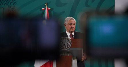 El Presidente Andrés Manuel López Obrador en su conferencia matutina del 10 de marzo de 2021.