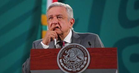 El Presidente Andrés Manuel López Obrador en su conferencia del 26 de abril de 2021.