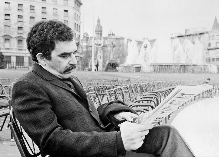 El escritor colombiano Gabriel García Márquez durante una entrevista que concedió a la Agencia EFE en la ciudad de Barcelona.