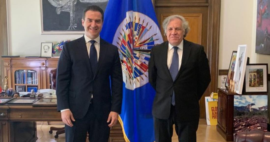 Adrián Emilio de la Garza Santos, candidato del PRI a la gubernatura de Nuevo León, y Luis Almagro, Secretario General de la OEA.