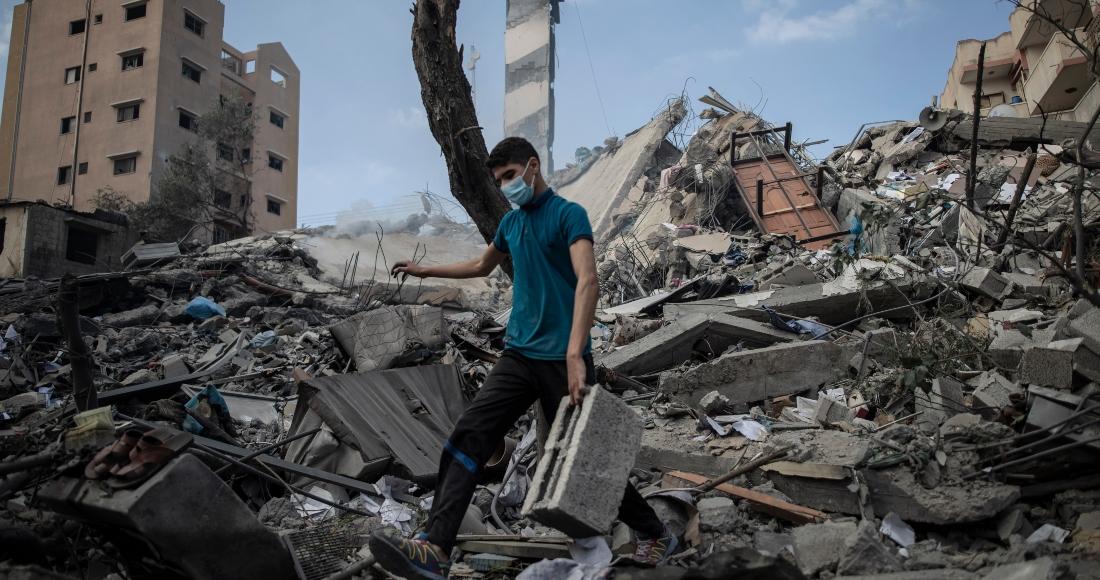 Ataque aéreo israelí en Gaza.