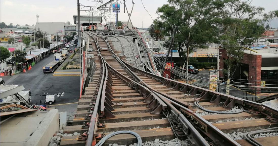 Zona del colapso de la Línea 12 del Metro de la Ciudad de México.