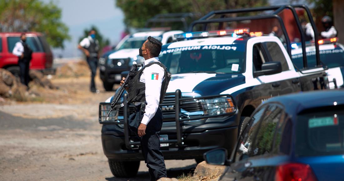 El Ejército Mexicano y la Policía Municipal durante un operativo de vigilancia el 04 de mayo de 2021, en Morelia, Michoacán (México).