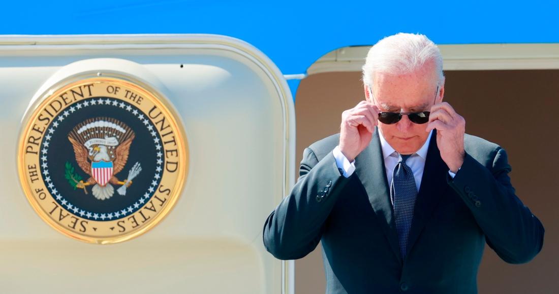 El Presidente de Estados Unidos, Joe Biden, a su llegada a Ginebra, Suiza, el 15 de junio de 2021, en la víspera de la reunión con su homólogo ruso, Vladimir Putin.