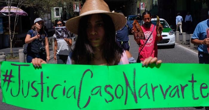 Activistas y ciudadanos se manifestaron en la Plaza Lerdo, para exigir se esclarezca el caso Narvarte.