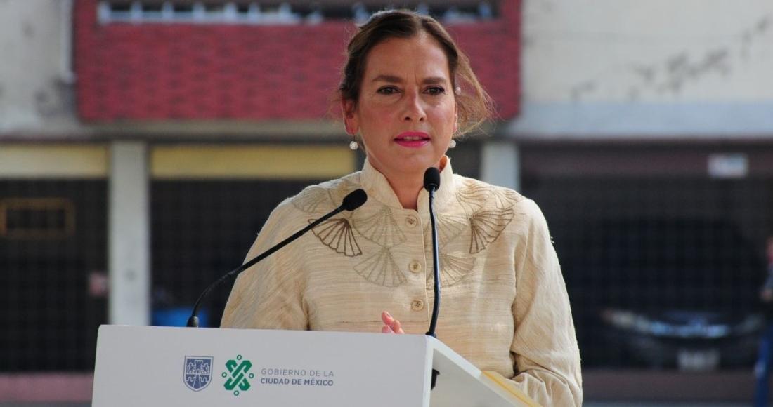 Beatriz Gutiérrez Müller, presidenta honoraria de la Comisión de Coordinación de Memoria Histórica y Cultural de México.