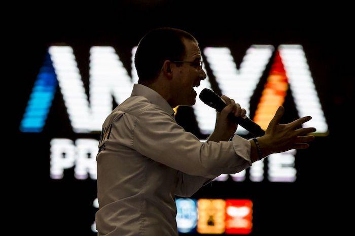 Ricardo Anaya en un mitin de 2018, cuando era candidato a la Presidencia de México.