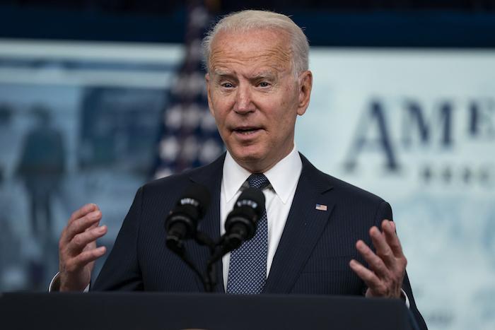 El Presidente Joe Biden en la Casa Blanca en Washington el 15 de julio del 2021.