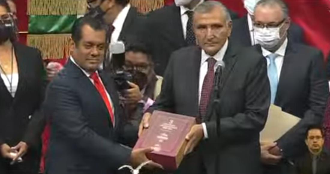 El titular de Segob entrega al Congreso el III Informe de Gobierno de López Obrador