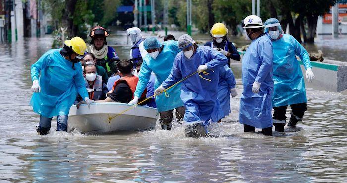 tula inundacion - Inundaciones, sismo, derrumbe... Esta semana ha sido la más difícil, reconoce AMLO