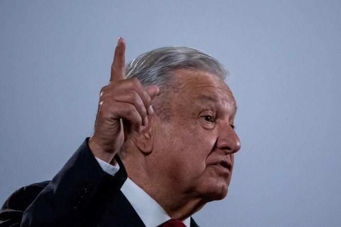 Andrés Manuel López Obrador, Presidente de México, durante la conferencia matutina desde Palacio Nacional, celebrada el pasado 8 de octubre.