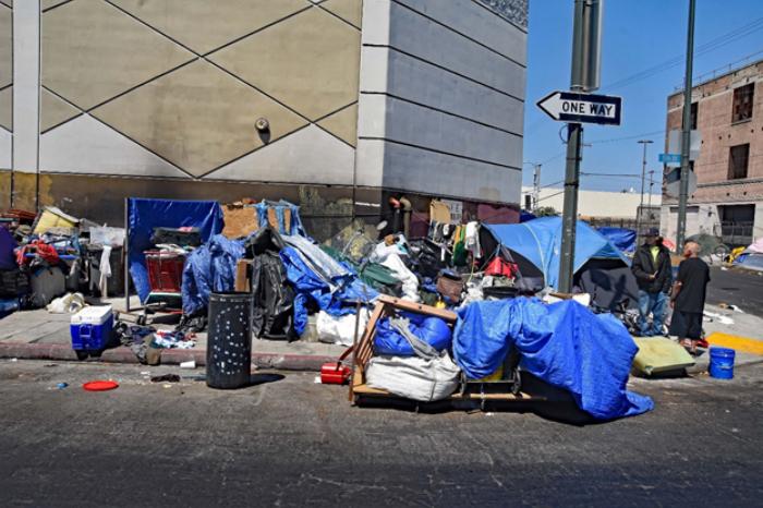Skid Row, Los Ángeles, California.