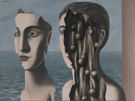 Renè Magritte, Le double secret, 1927. Centre National de Art e de Culture Georges Pompidou