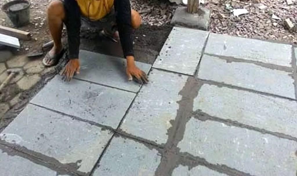 Cara Memasang Batu Alam Andesit