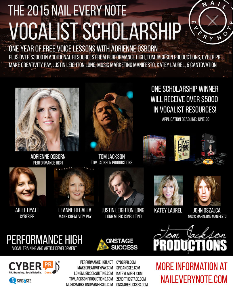"The 2015 ""Nail Every Note"" Vocalist Scholarship"