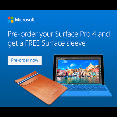 Pre-order Your Microsoft Surface Pro 4 Now