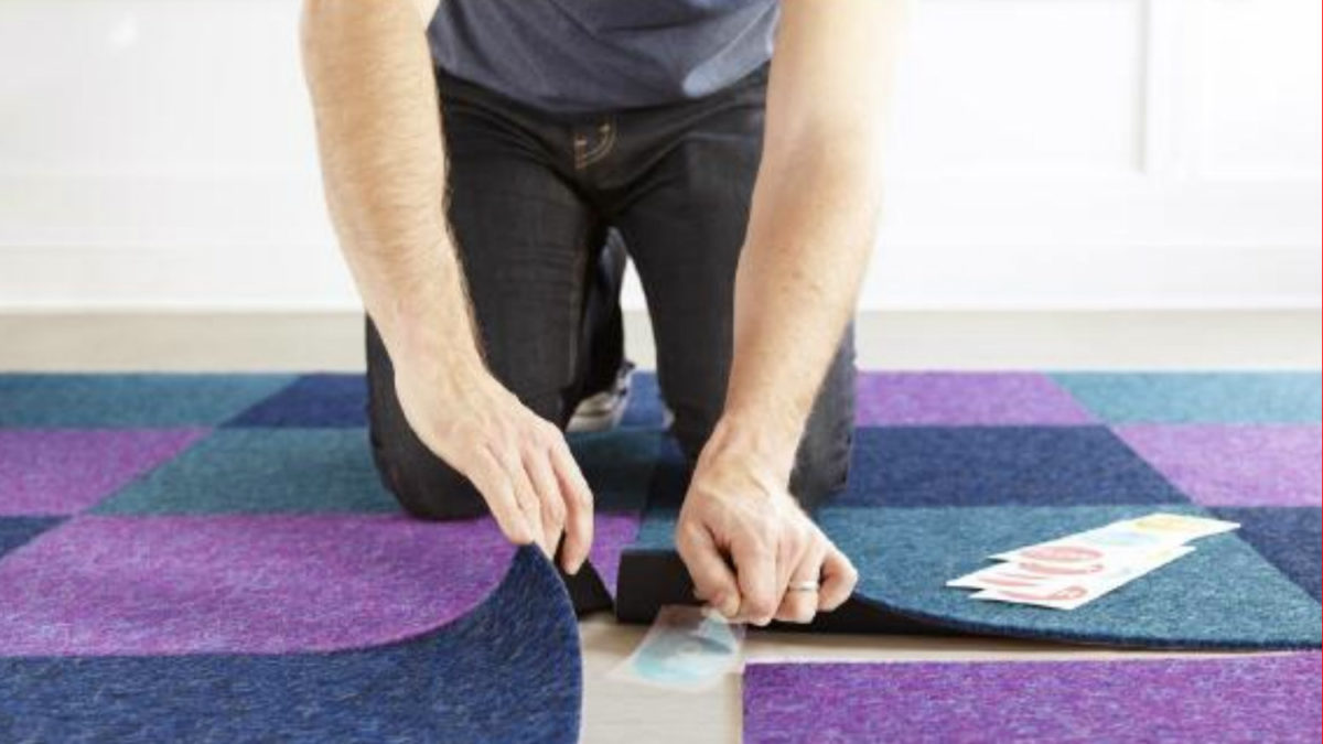 can i install carpet tiles over
