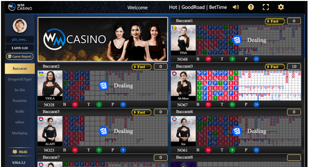 Live casino games you can play at 12Play Live Casino in Singapore