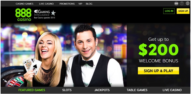 888 Casino- Bonuses and promotions
