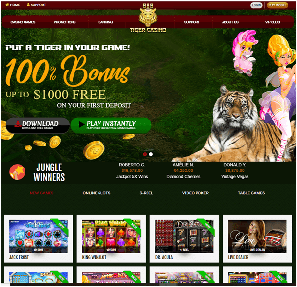 888 Tiger bonus and offers
