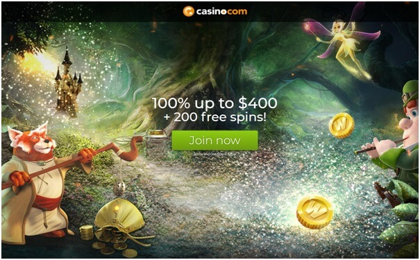 Casino.com bonus offers