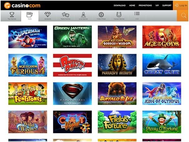 Casino.com slots to play